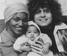 Gloria Jones, Marc Bolan and their baby