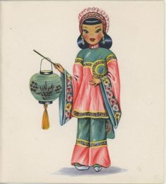 Chinese Doll Notecard