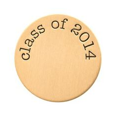 Gold Class of 2014 Plate (also available in silver and rose gold)