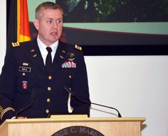 @doctorbrannon @Sam_J_Mullins @USArmy Lt. Col. Ryan Boyle, deputy director for the Program on Terrorism and Security Studies, lectures on the definitions and terms of terrorism to 72 participants from 54 countries at the George C. Marshall European Center for Security Studies Feb. 25 here.