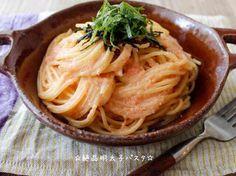☆絶品明太子パスタ☆の画像 Wine Recipes, Asian Recipes, Ethnic Recipes, Easy Cooking, Cooking Recipes, Home Meals, Food Menu, How To Cook Pasta, Food Hacks