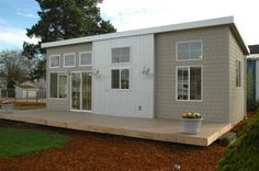 NW Modern Ideabox, 400 sq. ft. prefab home from Salem, OR. It can be placed on a concrete slab, grave/pier blocks or on a trailer for mobility.: