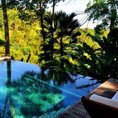 Uma by como, Ubud.  Uma villa -private plunge pool with a view of the Balinese jungle.