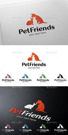 Pet / Animals Logo Template: Animal Logo Design Template by LogoBuy. Dog Logo Design, Logo Design Template, Brand Identity Design, Logo Templates, Branding Design, Graphic Design, Pet Branding, Corporate Branding, Nature Green