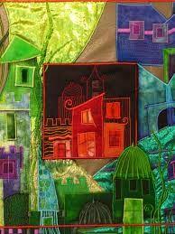 Fabric Collage Cityscape
