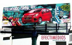Arte GRAFFITI se toma la Publicidad Exterior en Vallas CHEVROLET - RENOVADO SPARK GT. Haz clic y echa un vistazo:http://www.efectimedios.com/htm/contenido.php?pid=0&id=6&bid=193