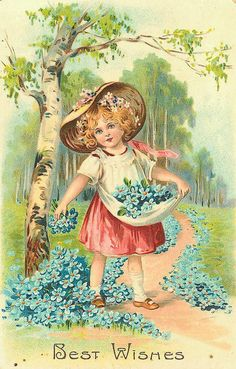 Vintage Best Wishes card Éphémères Vintage, Decoupage Vintage, Vintage Ephemera, Vintage Prints, Vintage Pictures, Vintage Images, Best Wishes Card, Victorian Art, Vintage Birthday