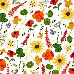 Floral Gouache illustration Pattern Illustration, Gouache, Earthy, Floral, Flowers, Royal Icing Flowers, Flower, Flower, Florals