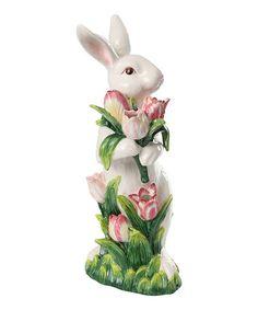 Look what I found on #zulily! Tulip Bunny Statue #zulilyfinds
