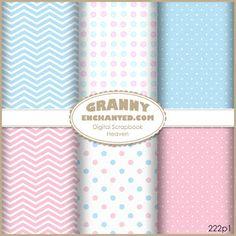 222 Oh Baby Free Digital Scrapbook Papers – GrannyEnchanted.Com