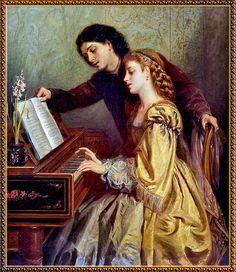 Edwin Thomas Roberts . The Music Lesson.
