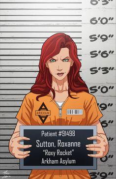 Roxanne Sutton locked up by phil-cho on DeviantArt Comic Villains, Dc Comics Characters, Batman Universe, Comics Universe, Batman Telltale, Hq Dc, Arkham Asylum, Detective Comics, Film Serie