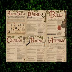Book of Shadows Pages Altar Tool Pages Digital Download | Etsy