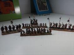 Ejercito templario DBA 15mms, figuras de Mirliton y Corvus Belli. (Later Crusaders DBA Army)
