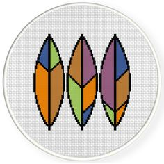 FREE for August 201th 2016 Only - Feather Line Cross Stitch Pattern