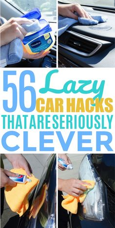 Keeping the car clean isn't the easiest task, but these car hacks will help make your car look clean and beautiful! So definitely check out these car organization hacks and car cleaning hacks. They're absolutely brilliant! car life hacks tips Diy Car Cleaning, Deep Cleaning Tips, House Cleaning Tips, Diy Cleaning Products, Spring Cleaning, Cleaning Recipes, Cleaning Checklist, Cleaning Solutions, Cleaning Supplies