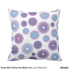 Rest your head on one of Zazzle's Snow decorative & custom throw pillows. Designer Pillow, Designer Throw Pillows, Decorative Throw Pillows, Teal, Purple, Blue, Accent Pillows, Happy Shopping, Snowflakes
