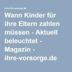 Wann Kinder für ihre Eltern zahlen müssen - Aktuell beleuchtet - Magazin - ihre-vorsorge.de