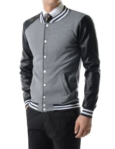 Thelees High Quality Mens Jacket Casual Slim Fit Daily Bomber Blouson