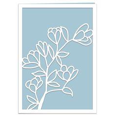 Silhouette Design Store: magnolia branch card