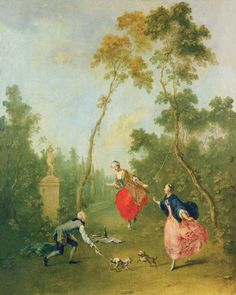 NORBERT GRUND (1717-1767)  Scene Galante in a Park, national gallery Prague