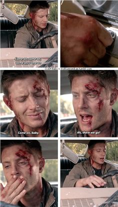 11x04 Baby [gifset] - Dean loves his Baby - Supernatural