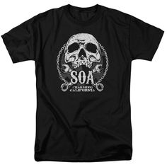 """Checkout our #LicensedGear products FREE SHIPPING + 10% OFF Coupon Code """"Official"""" Sons Of Anarchy / Soa Club-short Sleeve Adult 18 / 1 - Sons Of Anarchy / Soa Club-short Sleeve Adult 18 / 1 - Price: $29.99. Buy now at https://officiallylicensedgear.com/sons-of-anarchy-soa-club-short-sleeve-adult-18-1"""