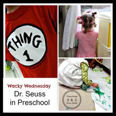 Celebrating Dr. Seuss in preschool, with links to other bloggers' activities, too!