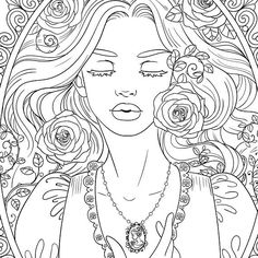 Instant Download and ready to print, color, and frame (and get addicted to).  This gorgeous and intricately drawn adult coloring page was drawn by Gloria Piñeiro Muñiz and is ready to be printed for your enjoyment and mental relaxation and it also makes for a great gift to your loved ones. The drawing is detailed and beautiful and will look good both in collection folders and framed on the wall.  The coloring media used is entirely up to you: you can use pencil, water color, pastel, markers…