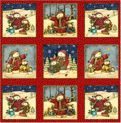 {Wholesale} Winter Magic, Winter Magic, sx22869-Red1, Fabric Catalog, Needlecraft, Inc. {great coodinates - view the line Winter Magic}