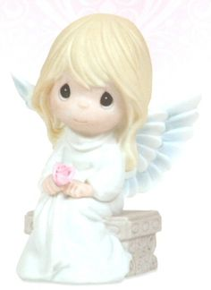 Precious Moments Love Never Forgets  This angel provides comfort in a times of sorrow, allowing you to keep beloved memories forever in your heart. The Precious Moments Berevement Collection offers comfort to those who have lost someone dear to them. Figurine is made of porcelain. $40.00. Click Image to Buy Now.
