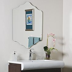 @Overstock - The Vandam Frame-less Mirror creates a powerful presence in any room. The diamond shaped frame-less mirror is the newest in contemporary European design focused on form, function and fashion at its best.http://www.overstock.com/Home-Garden/Vandam-Frame-less-Bathroom-Mirror/5692749/product.html?CID=214117 $112.99