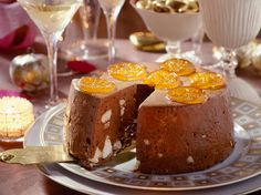 Semifreddo au chocolat meringué