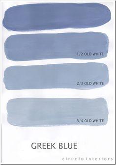 Greek Blue og Old White