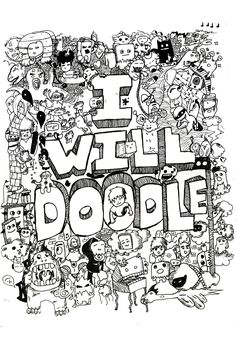 doodle invasion coloring book - Doodle Coloring Book
