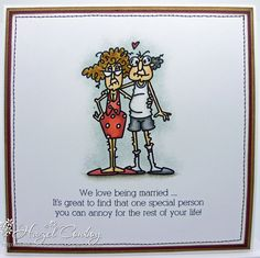 so fun for Anniversary Card--Bugaboo Stamps! Simply Me ...