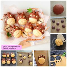 Totoro Melon Pan Bread Recipe トトロのメロンパン作り方・レシピ - Little Miss Bento