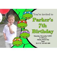 Ninja Turtles Invitation - TMNT Invite - Turtles Birthday - Digital File - Party - PRINTABLE