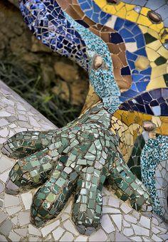 Detall del drac |Parc Güell BCN Catalonia