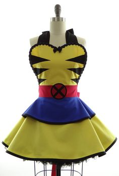 I may not be a huge fan of these apron looking dresses... but come on, its wolverine! XD