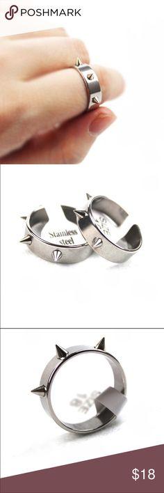 Rivet Ring Hot Stainless Steel Punk Rivet Ring Jewelry Rings