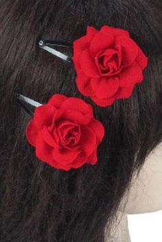 Looking for a quick and simple way to add a touch of romance to your ensemble? Look no further than this petite pair of red rose hair clips! Also available in Burgundy. Featuring: Cassia DeMayo Red Hair Clips, Rose Hair Clip, Red Hair Accessories, Jewelry Accessories, Halloween Hair Clips, Pinup Girl Clothing, Bandana Hairstyles, Rose Wallpaper, Disneybound