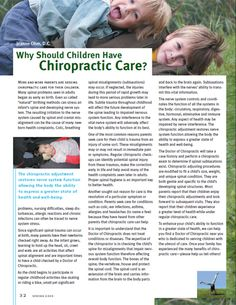 """More and more parents are seeking chiropractic care for their children. Many spinal problems seen in adults began as early as birth. Even so called """"natural"""" birthing methods can stress an infant Benefits Of Chiropractic Care, Chiropractic Treatment, Chiropractic Wellness, Natural Birth, The More You Know, Kids Health, Pediatrics, Need To Know, Health And Wellness"""