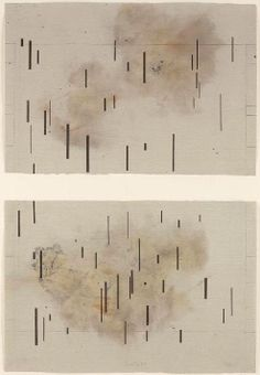 John Cage / Global Village (Diptych), Aquatint on brown smoked paper Graphic Score, Experimental Music, John Cage, Fluxus, Sound Art, Abstract Drawings, Mark Making, Artwork, Contemporary Art