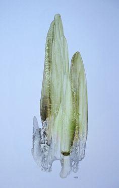 FRACTAL #11 Oil dispersion / paper 70 x 50 cm art WORK for SALE