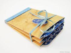 Gutscheine - Gutschein Geldgeschenk Vintage Album Blau Blumen - ein Designerstück von rainbowcaraways bei DaWanda