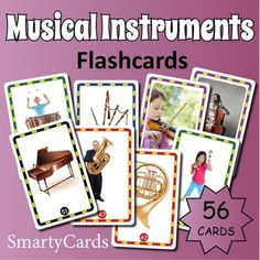 Music for Kids: printable musical instruments flashcards for classroom games and activities. Music Activities, Learning Games, Student Learning, Music Games, Games To Play, Playing Games, Music Flashcards, Printable Flashcards, Classroom Games