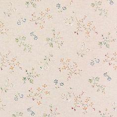 Floral Spray Linen Blend Curtain Fabric Multi 148cm - Floral Fabric - Curtain…