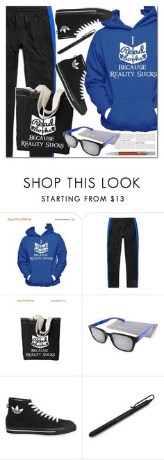 Read books by paculi on Polyvore featuring adidas, Gabriel + Simone, Faber-Castell, StreetStyle, Summer and casual