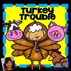 Turkey Trouble Activities will help students understand plot with comprehension questions, games, vocabulary, grammar, fluency, phonics, comprehension strategies, sequencing, writing, and a comprehension test with answer key! Turkey Trouble, Robin Wilson, First Grade, Second Grade, Guided Reading, Classroom Activities, Book Activities, Comprehension Strategies, Sight Words